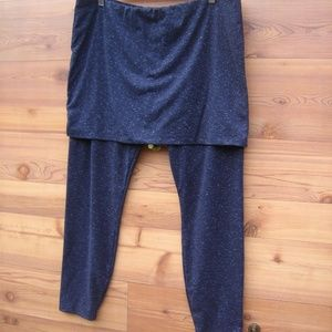 Cabi | Spacedye Black & Gray M'Leggings with Skirt